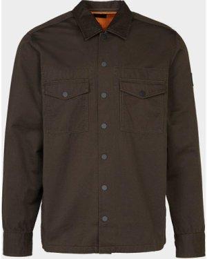 Men's BOSS Lovel 4 Overshirt Green, Olive/Olive