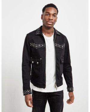 Men's Dsquared2 Studded Denim Jacket - Online Exclusive Black, Black