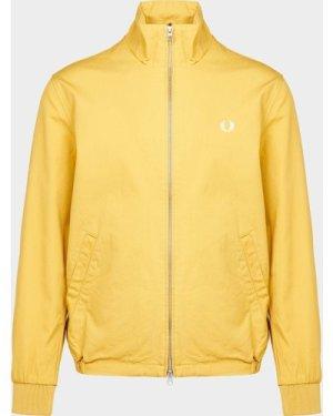 Men's Fred Perry Embroidered Zip Jacket Yellow/DIJON, Yellow/DIJON