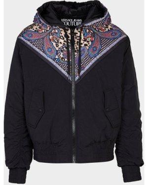 Men's Versace Jeans Couture Leopard Paisley Panel Jacket Multi, Black/Multicolour