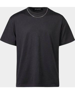 Men's Neil Barrett Chain Short Sleeve T-Shirt Black, Black
