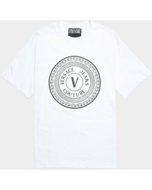 Men's Versace Jeans Couture Medallion Short Sleeve T-Shirt White, White