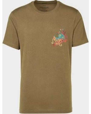 Men's Maharishi Liberty Dragon T-Shirt Green, Olive/Olive