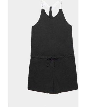 Women's Calvin Klein Swim Tie Waist Playsuit Black, Black
