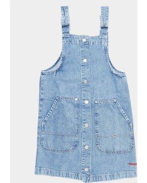Women's Tommy Hilfiger Denim Button Down Dress Blue, Denim Blue
