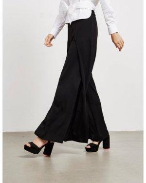 Women's Armani Exchange Flared Trousers Black, Black
