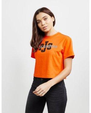 Women's Parajumpers Allegra Short Sleeve Crop T-Shirt Orange, Orange