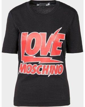 Women's Love Moschino Bowie Love Moschino T-Shirt Black, Black/Black