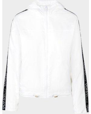 Women's Armani Exchange Tape Windbreaker Jacket White, White/White