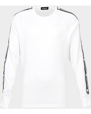Kid's Dsquared2 Long Sleeve Tape T-Shirt White, White/White