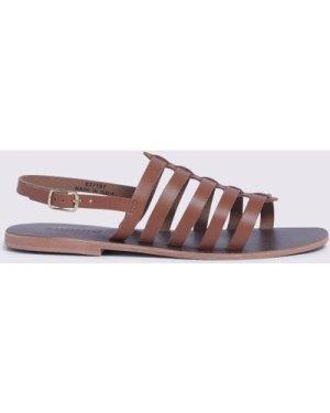 Womens Gladiator Sandal - tan, Tan