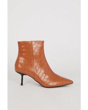Womens Croc Pixie Ankle Boot - tan, Tan
