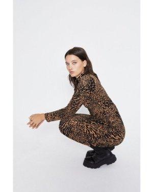 Womens Shadow Animal Short Dress - black, Black