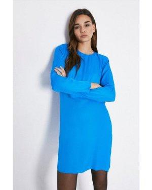 Womens Bold Shoulder Dress - cobalt, Cobalt