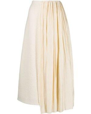 Jil Sander 20FW JSWR720302 WR257308 107 Knitted skirt white (Size: 36)