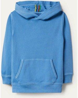 Garment-dyed Hoodie Blue Boys Boden, Blue
