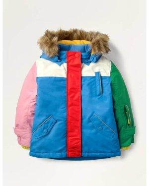 Multi Waterproof Bunny Coat Blue Girls Boden, Blue