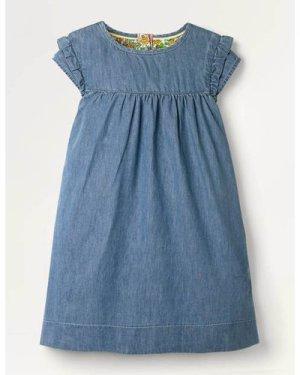 Easy Everyday Dress Blue Girls Boden, Blue