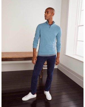 Cashmere Half-Zip Blue Men Boden, Blue