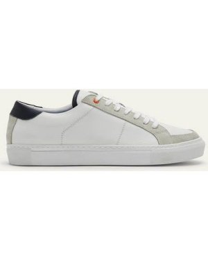 Leather Trainers White Leather Men Boden, White