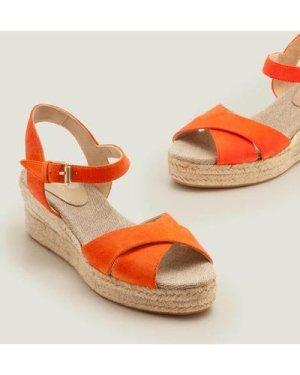 Jasmine Espadrille Wedges Orange Boden, Orange