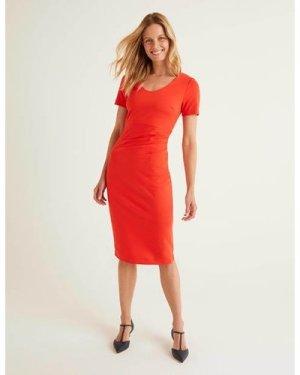 Honor Ponte Dress Red Women Boden, Navy