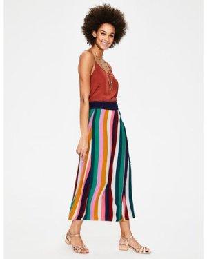 Portia Skirt Multi Women Boden, Brown