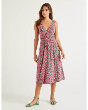 Effie Jersey Dress Pink Women Boden, Camel