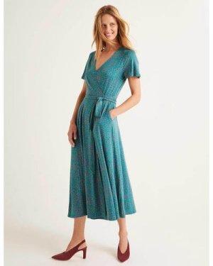 Cassia Jersey Midi Dress Blue Women Boden, Blue
