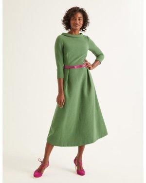 Violet Ottoman Dress Green Women Boden, Green