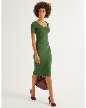Honor Ponte Dress Green Women Boden, Green