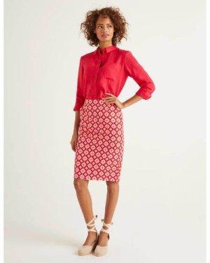 Gabriella Pencil Skirt Red Women Boden, Navy