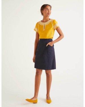 Daisy Chino Skirt Navy Women Boden, Navy