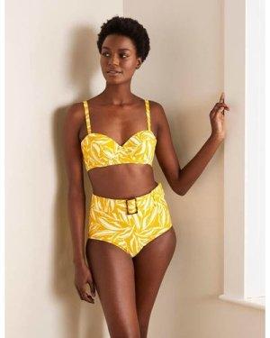 Kythira Belted Bikini Bottoms Yellow Women Boden, Yellow