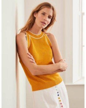 Denbigh Knitted Vest Yellow Women Boden, Yellow