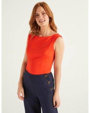 Ettie Ponte Top Orange Women Boden, Orange