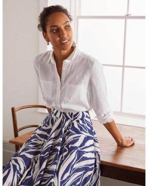 Linen Shirt White Women Boden, White