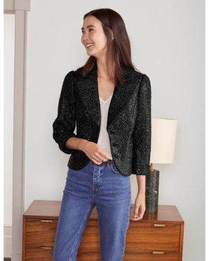 Imelda Sequin Jacket Black Women Boden, Black