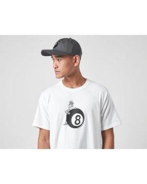 Stussy Behind The Ball T-Shirt, White/Black