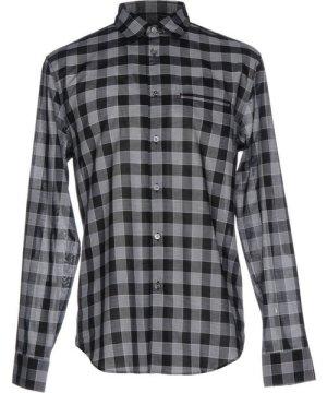 John Varvatos Grey Plaid Cotton Shirt