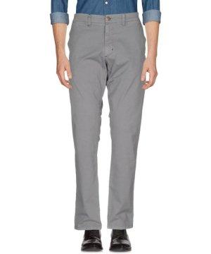 Sun 68 Grey Cotton Straight Leg Trousers