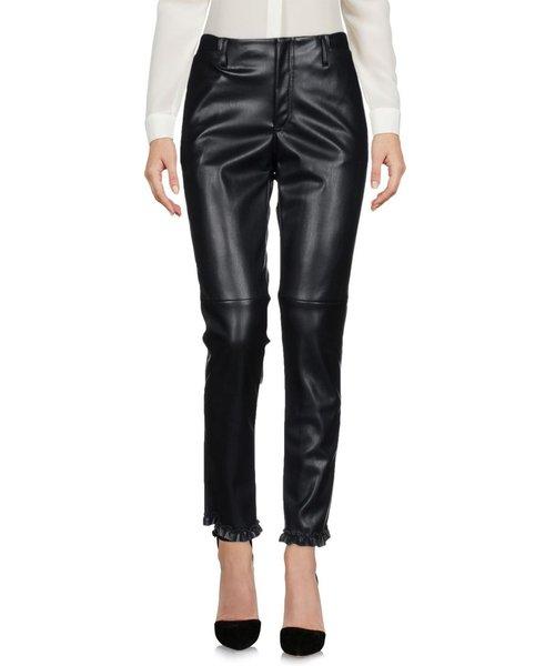 Philosophy Di Lorenzo Serafini Black Faux Leather Trousers