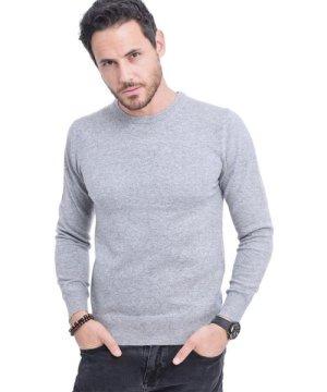 C&Jo C&JO Round Neck Sweater in Light Grey