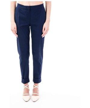 Pt01 PT01 WOMEN'S CDVSANZ00STDRG230360 BLUE COTTON PANTS