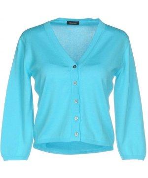 Cruciani Azure Cotton Knit Cardigan