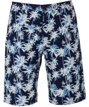Edwin Indigo Palm Poplin Rail Shorts