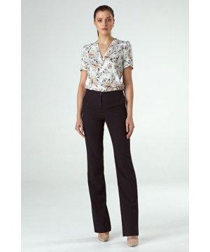 Nife Black bootcut trousers