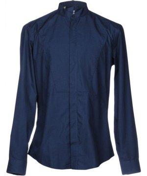 Msgm MSGM Slate Blue Cotton Shirt