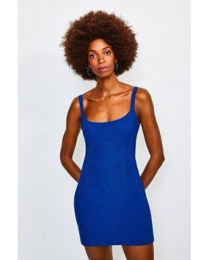 Karen Millen Scoop Neck Mini Dress -, Blue