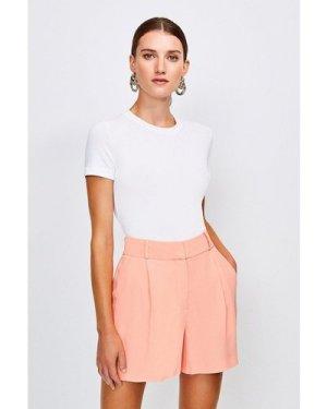 Karen Millen Relaxed Tuxedo Shorts -, Orange